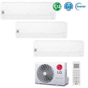 aire acondicionado LG Multisplit 3X1 MU2R15 ULO+2 PC09QNSJ+PC12QNSJ